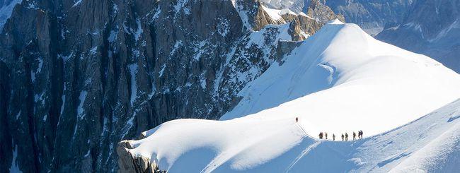Sulla cima del Monte Bianco con Google Street View