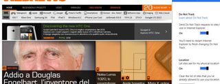 Internet Explorer 11, le immagini