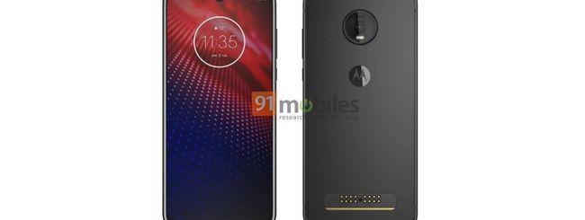 Motorola Moto Z4, design e possibili specifiche