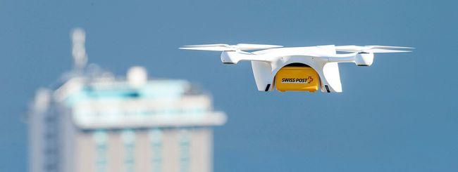 Drone-corriere si schianta vicino ai bambini