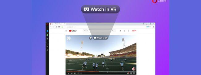 Opera supporta i video VR a 360 gradi