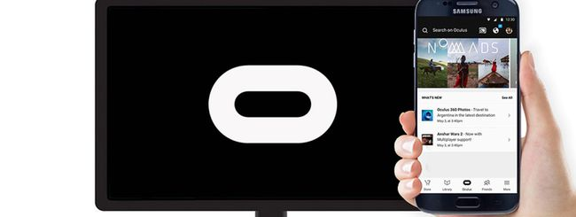 Samsung Gear VR supporta Google Chromecast