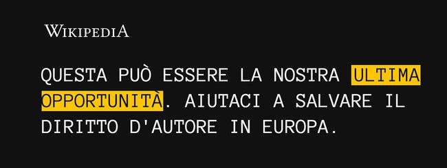 Copyright, anche Wikipedia Italia è stata oscurata