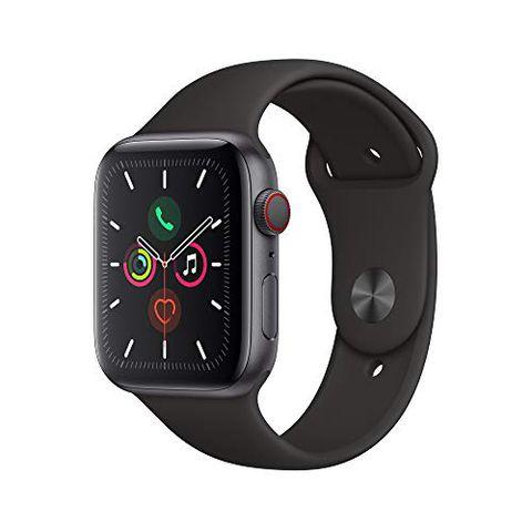 Apple Watch Series 5 (GPS + Cellular, 44 mm) Cassa in Alluminio, Grigio Siderale e Cinturino Sport - Nero