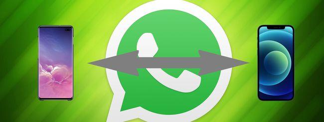 WhatsApp, trasferire le chat da Android a iOS e viceversa