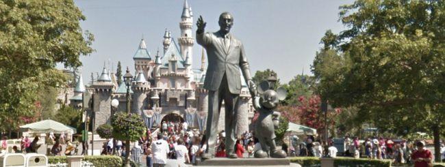 Visitare i parchi Disney con Google Street View
