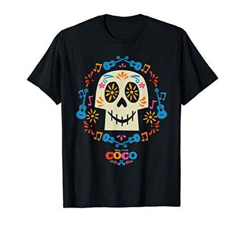 Disney and Pixar's Coco Papel Picado Sugar Skull Maglietta