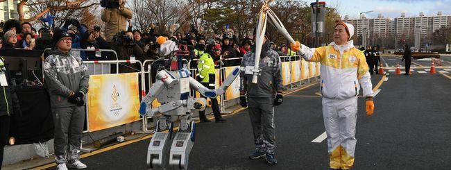 HUBO, il robot umanoide diventa tedoforo