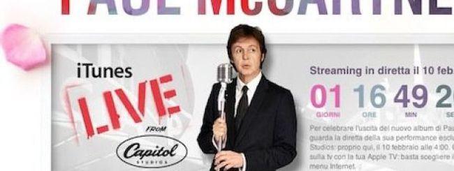 Paul McCartney in concerto live gratuito su iTunes e Apple TV