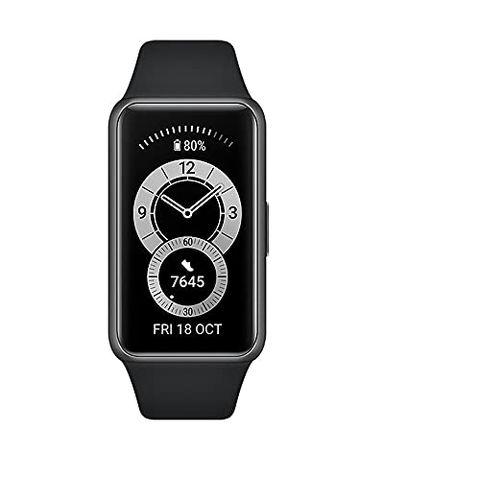 "HUAWEI Band 6 Smart Band Fitness Tracker, Touchscreen AMOLED 1.47"" (Black)"