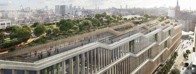 Il Building A di Google a Londra: i primi render