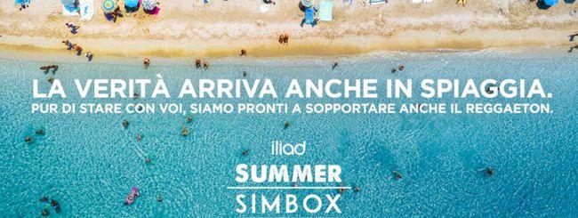 Iliad Summer SIMBOX; le SIM si comprano al mare