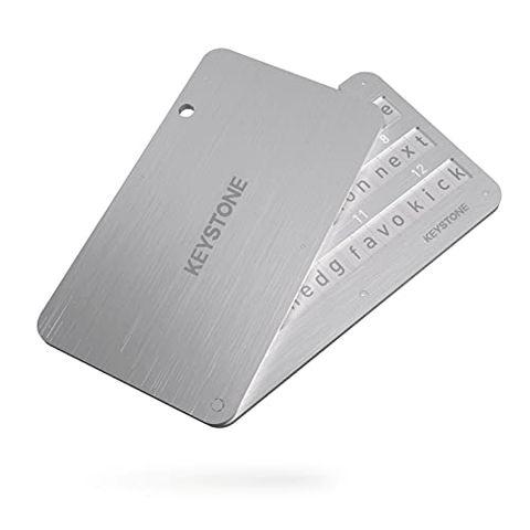 Crypto Steel Wallet - Portafoglio in acciaio per Cryptovalute