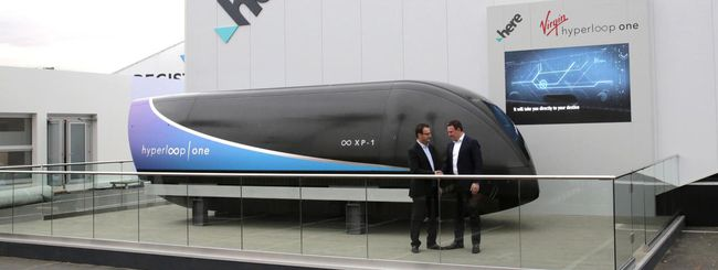 HERE per l'applicazione di Virgin Hyperloop One