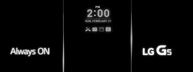 LG G5, il display è Always On