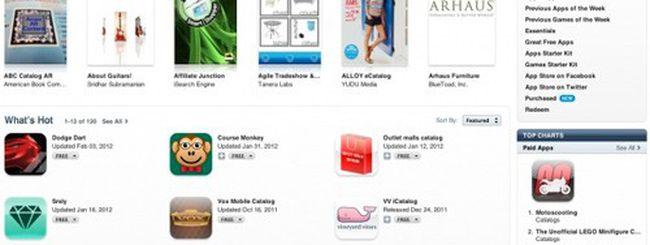 Cataloghi, delusione per la nuova sezione App Store