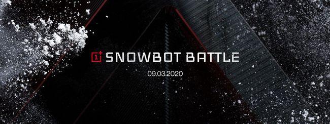 OnePlus Snowbots, battaglia di neve con robot 5G
