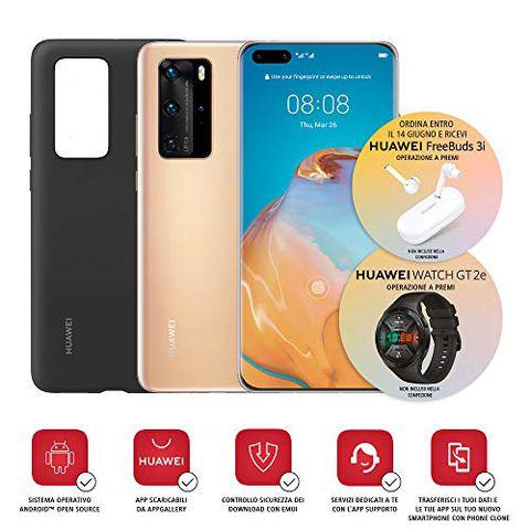 Huawei P40 Pro con Cover (Oro)
