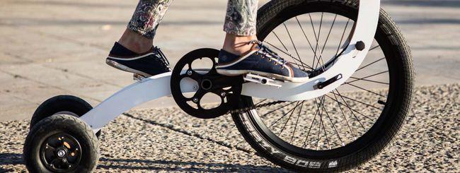 Halfbike II, metà bici e metà skateboard