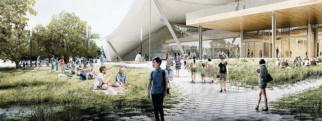 Render per il nuovo campus Google di Mountain View