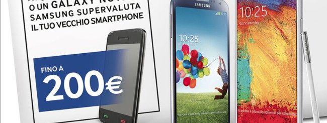 Samsung supervaluta i vecchi cellulari sino a 200€
