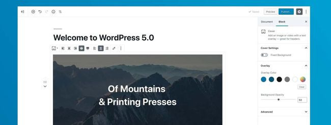 WordPress 5.0, nuovo editor a blocchi