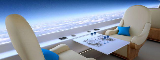 Il jet supersonico con vista panoramica