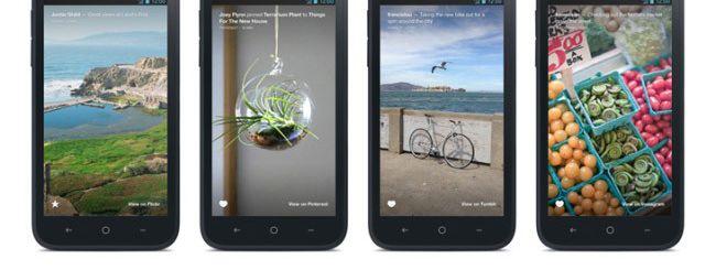 Instagram e Pinterest su Facebook Home