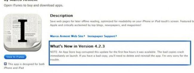 Apple spiega il problema dei download corrotti su App Store