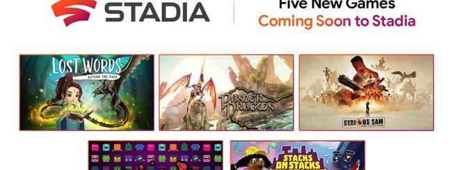 Google Stadia, annunciati cinque nuovi giochi