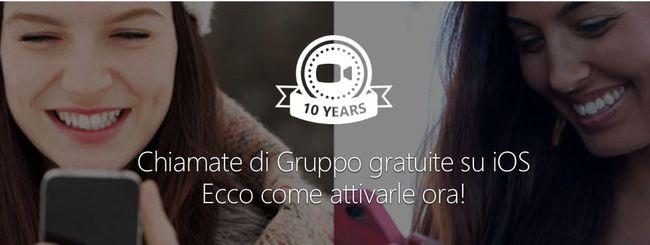 Skype, chiamate di gruppo gratuite anche su iOS