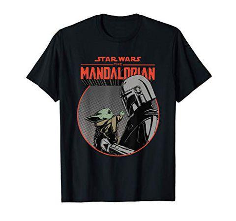 Star Wars The Mandalorian Mando and the Child Retro Maglietta