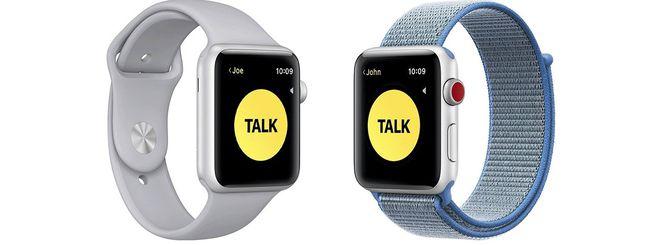Apple Watch: torna l'applicazione Walkie Talkie