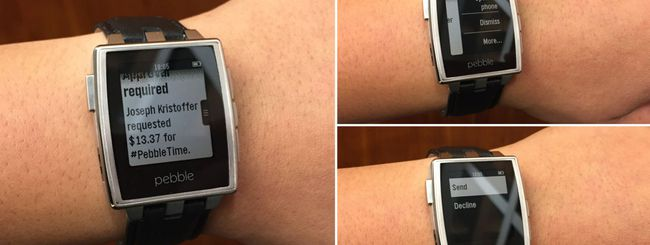 Pebble 2.3 supporta le notifiche Android Wear