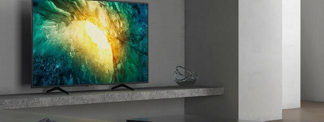 Sony: disponibili i nuovi TV LCD 4K HDR