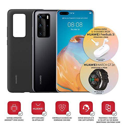 Huawei P40 Pro con Cover (Nero)