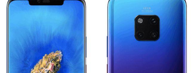 Huawei Mate 20 Pro, immagini dello smartphone
