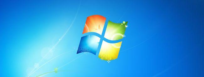 Windows 7 scende, Windows XP sale