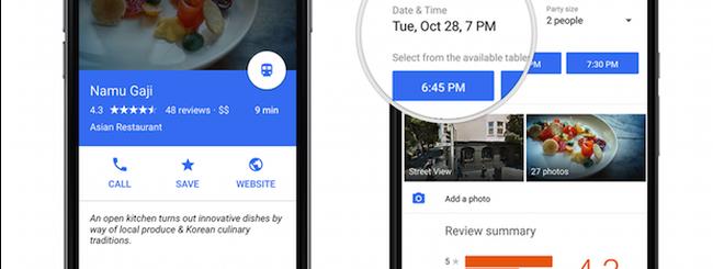 Google Maps: nuova interfaccia, e integrazione con OpenTable e Uber