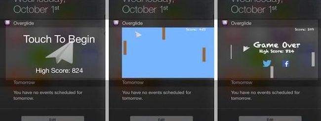 Trasformare il Centro Notifiche di iOS 8 in un gioco con Overglide