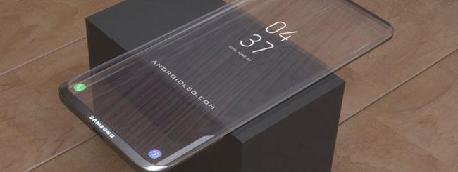 Samsung al lavoro su smartphone Galaxy trasparente