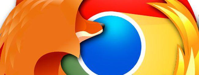 Chrome vs. Firefox, scontro fra browser