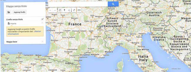 La funzionalità Google My Maps integrata in Drive