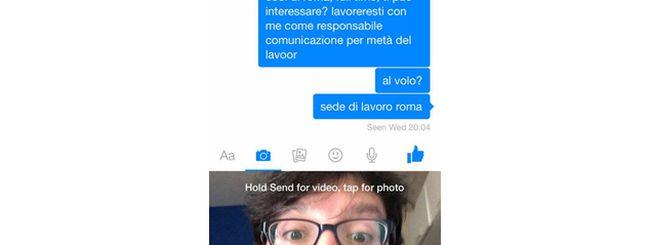 Facebook Messenger video messaggi: ora puoi creare e inviare mini-video dall'app