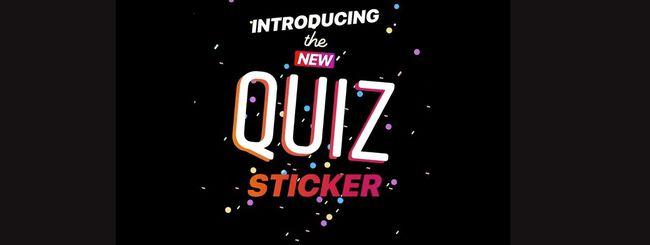Instagram, disponibile l'adesivo Quiz nelle Storie