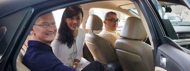 Tim Cook a Pechino con il ride sharing di Didi