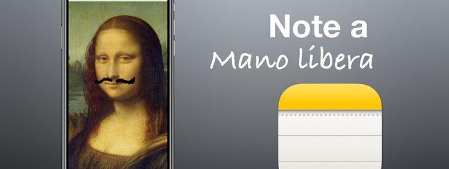 iOS 14, disegnare sulle immagini e prendere appunti in Note