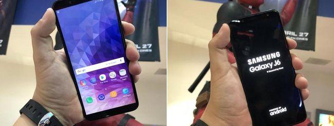 Samsung Galaxy J6, render e immagini reali