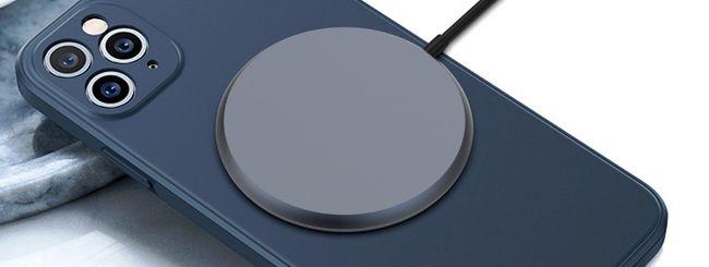 iPhone 12: ricarica wireless con aggancio magnetico
