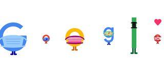 Google ci ricorda di indossare la mascherina col nuovo Doodle
